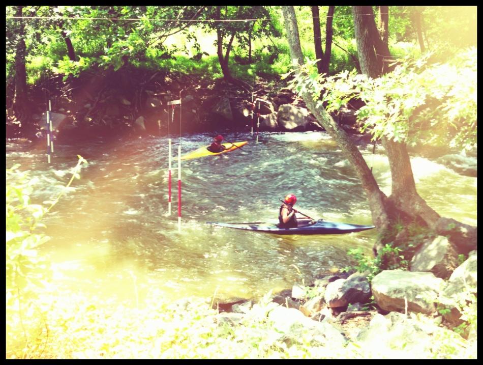Sun-dazed on the river