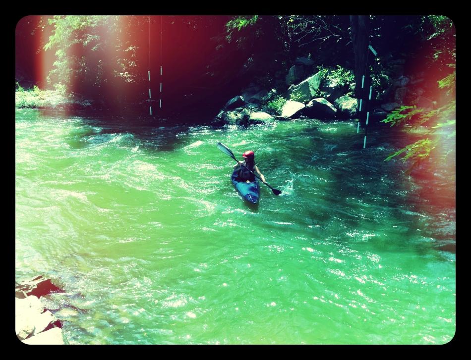 kayaking upstream