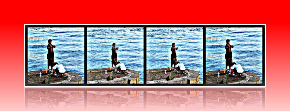 Guy fishing in the potomac